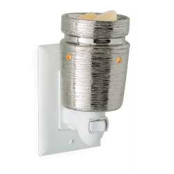 Plug in Brushed chrome